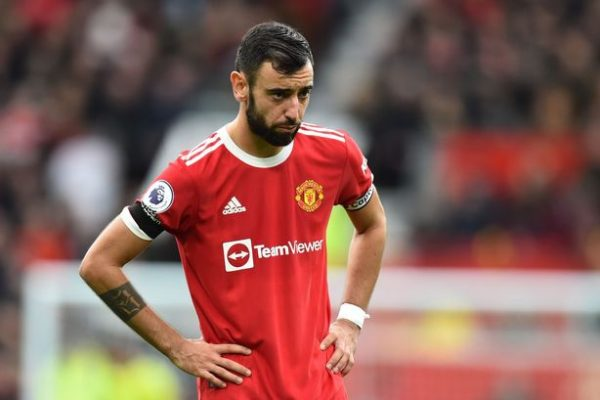 Bruno Fernandes the Manchester United midfielder even called out the form of the team as Everton split the points with a 1-1 result