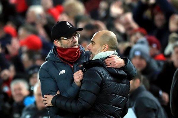 Pep Guardiola has hailed his rival Liverpool boss Jurgen Klopp